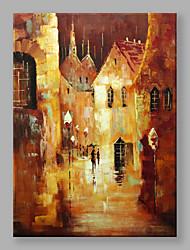 Pintados à mão Paisagens Abstratas Vertical,Moderno Estilo Europeu 1 Painel Tela Pintura a Óleo For Decoração para casa