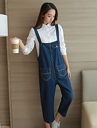 Sign the owner recommended Marina style suspenders jeans female pantyhose loose thin pants collapse