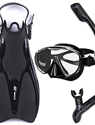 Snorkel Set Snorkeling Packages Snorkels Diving Fins Diving Masks Snorkel Mask Anti-Fog Adjustable Dry Top Diving / SnorkelingGlass