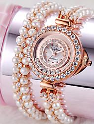 Women's Fashion Watch Quartz Alloy Band White Gold Rose Gold
