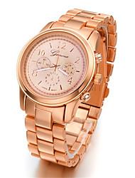 Masculino Relógio de Moda Quartzo Lega Banda Casual Preta Prata Dourada Ouro Rose Dourado Preto Prata Ouro Rose