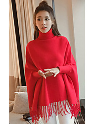 Model real shot 2017 Korean Women solid color long-sleeved sweater fringed bat loose big yards fat MM
