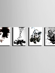 Stretched Canvas Print Art Abstract The Ink in The Water Set of 4