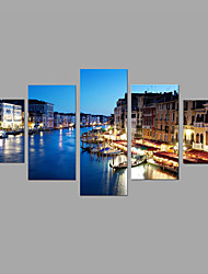 HD Print Venice Night Scenery Painting 5 Piece/set Wall Art 5pcs/set Home Decor (No Frame)