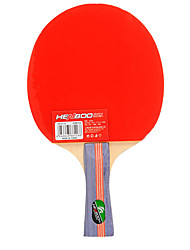 3 Stars Table Tennis Rackets Ping Pang Wood Long Handle Pimples Indoor Performance Practise Leisure Sports-#