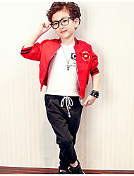 Boy's Casual/Daily Sports Solid Suit & Blazer,Polyester Spring Fall Long Sleeve