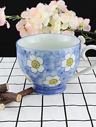 Sakura Blossom River High Temperature Porcelain Tea Cup/Coffee Mug 330 ml