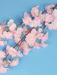 1 Branch Silk Oriental Cherry Wedding Venue  Show Window Layout Artificial Flower