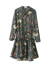 Gaine Robe Femme Sortie Chic de Rue,Couleur Pleine Col Arrondi Midi Manches Courtes Coton Toutes les Saisons Taille Basse Micro-élastique