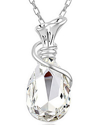 Women's Pendant Necklaces Crystal Jewelry Chrome Wishing Bottle Personalized Jewelry For Thank You Daily 1pc