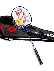 Badmintonschläger Dauerhaft Kohlefaser Ein Paar für Drinnen Draußen Leistung Training Legere Sport-DHS®
