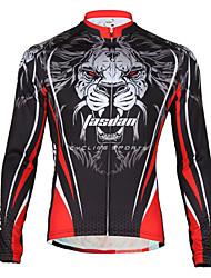TASDAN Maglia da ciclismo Per uomo Bicicletta Giacca di pelle Traspirante Asciugatura rapida Tasca posteriore 100% poliestere Tinta unita
