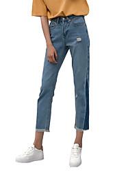 знак +2017 весной джинсы треугольной стороны цветого заклятия дизайнера джинсы брюки