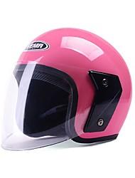 Yema 607 casque de moto casque antif anti absence anti-UV pour 54-61cm avec lentille antibrouillard