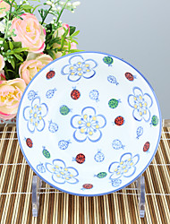 High temperature Porcelain Dining Bowl Dinnerware Flower with Plum Flower print