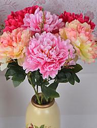 1 Une succursale Polyester Plastique Pivoines Fleur de Table Fleurs artificielles 70*20