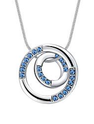 Women's Pendant Necklaces Crystal Round Chrome Fashion Personalized Jewelry For Congratulations Daily 1pc