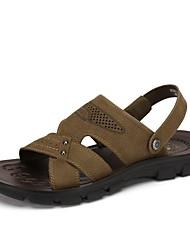 Camel Men's Casual Nubuck Sandals Non-slip Slip On Summer Beach Wear Flip Flop Color Khaki/Brown