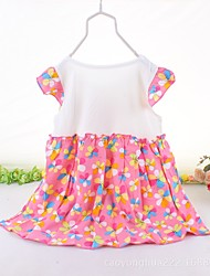 Girl's Casual/Daily Solid Floral Dress Summer Short Sleeve