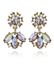 Flower Drop Earrings Crystal Crystal Alloy Geometric Geometric Jewelry Party Daily Casual 1 pair