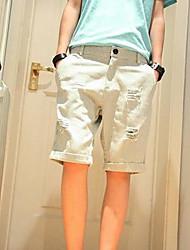 Men's Mid Rise Micro-elastic Shorts Pants,Simple Loose Striped