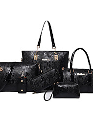 Women Bags All Seasons PU Bag Set with for Casual Office & Career Blue Black Coffee Wine Amethyst