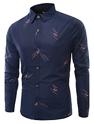 The Latest Men's Fashion Printing Large Size Long-Sleeved Shirt