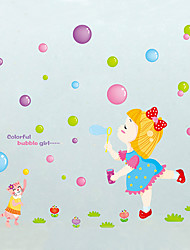 Wall Stickers Wall Decals Style Color Bubble PVC Wall Stickers