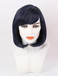 Perfeita peruca sintética roxa profunda bobo sintética