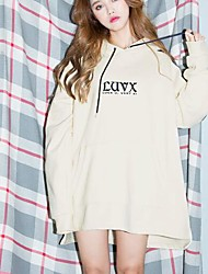 Han Guoguan CAPE letter embroidery stitching spring break hooded sweater dress