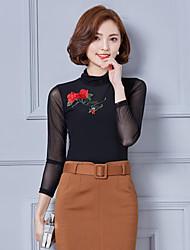 Знак с длинными рукавами кружева рубашки нижняя рубашка 2017 весной новый корейский дикий тонкий рубашка марля рубашка