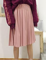 знак Корейского института ветер ретро шик диких плиссированных давлений плиссированных юбок в платье