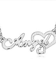 Mulheres Colares com Pendentes Cristal Amor Coração Moda Personalizado Euramerican bijuterias Jóias Para Casamento Festa