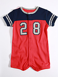 Baby Casual/Daily Color Block One-Pieces,Cotton Summer Short Sleeve