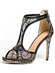 Women's Heels Spring Summer Fall Club Shoes Gladiator Patent Leather Customized Materials Wedding Party & Evening Dress Stiletto Heel