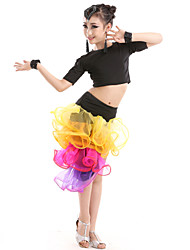 Shall We Latin Dance Outfits Kid Performance Tulle 7 Pieces