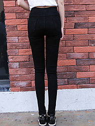 assinar cintura elástica altas elásticas finas calças slim pés