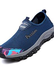 Masculino-Mocassins e Slip-Ons-Conforto-Rasteiro-Preto Azul Escuro Roxo Fúcsia Azul Real-Tule-Para Esporte