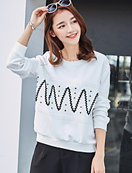 Really making 2017 spring new Korean women simple round neck was thin loose long-sleeved T-shirt