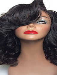 Natural Body Wave Curly Short Length Brazilian Human Virgin Hair Glueless Full Lace Wigs With Baby Hair Full Lace
