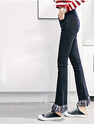 Women's Low Rise Micro-elastic Jeans Pants,Simple Skinny Solid