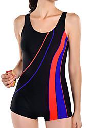 Women's Black  Large Size Swimsuit