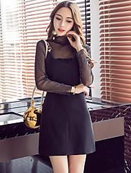 assinar 2017 nova primavera européia e americana perspectiva de moda sexy lace blusa saia cinta estilingue terno