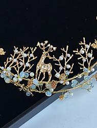 Diamantes Sintéticos Aleación Perla Artificial Celada-Boda Ocasión especial Tiaras Bandas de cabeza Palillo del pelo 1 Pieza