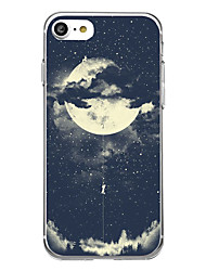 Pour iPhone X iPhone 8 Etuis coque Ultrafine Motif Coque Arrière Coque Carreau vernisé Flexible PUT pour Apple iPhone X iPhone 8 Plus