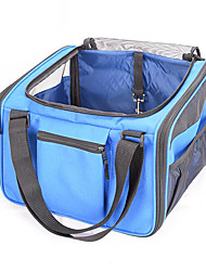 Cat Dog Carrier & Travel Backpack Pet Carrier Portable Breathable Solid Blue