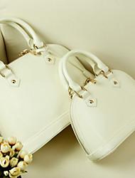 Women PU Outdoor Shoulder Bag White