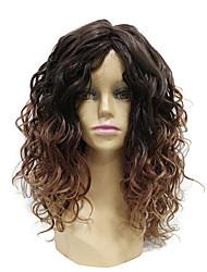 Perruque ombre à deux tons réaliste pour femmes perruque blonde à 24 pouces