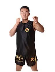 Short unisexe tank boxing art martial confortable rouge noir
