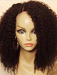Mujer Pelucas de Cabello Natural Cabello humano Encaje Completo Integral sin Pegamento 130% Densidad Afro Peluca Negro Corto Medio Largo